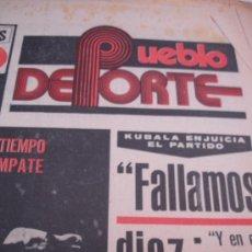 Coleccionismo de Revistas y Periódicos: PERIODICO EL PUEBLO DEPORTE. Lote 31303653