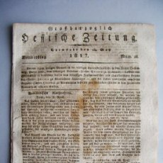 Coleccionismo de Revistas y Periódicos: 1817-NOTICIAS DE ESPAÑA.MADRID. MÉXICO.NAPOLEÓN.PERIÓDICO ALEMÁN. 15 DE MAYO.NÚMERO 58. Lote 31392727
