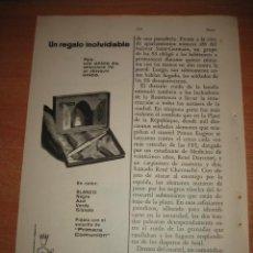 Coleccionismo de Revistas y Periódicos: PUBLICIDAD INOXCROM HOJA DE REVISTA READERS DIGEST 1965. Lote 31553160