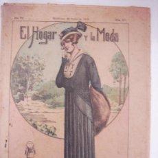 Coleccionismo de Revistas y Periódicos: ANTIGUA REVISTA - EL HOGAR Y LA MODA - 23 ENERO 1915. Lote 31574643