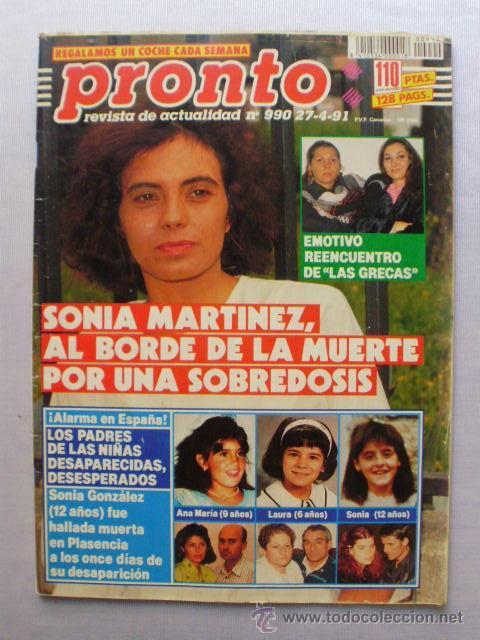 Pronto Nº 990 1991 Sonia Martínez Brigitte N Sold At Auction