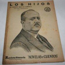 Coleccionismo de Revistas y Periódicos: LOS HIJOS - 1932 - REVISTA LITERARIA NOVELAS Y CUENTOS . Lote 31704710