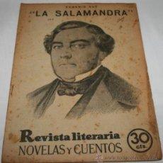 Coleccionismo de Revistas y Periódicos: LA SALAMANDRA - 1932 - REVISTA LITERARIA NOVELAS Y CUENTOS . Lote 31705886