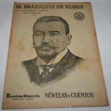 Coleccionismo de Revistas y Periódicos: EL BRAZALETE DE RUBIES - 1933 - REVISTA LITERARIA NOVELAS Y CUENTOS . Lote 31706054