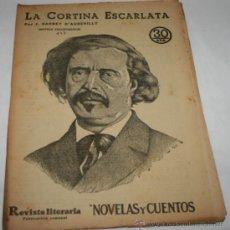 Coleccionismo de Revistas y Periódicos: LA CORTINA ESCARLATA - 1933 - REVISTA LITERARIA NOVELAS Y CUENTOS . Lote 31706209