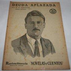 Coleccionismo de Revistas y Periódicos: DEUDA APLAZADA - 1933 - REVISTA LITERARIA NOVELAS Y CUENTOS . Lote 31706249