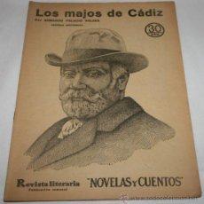 Coleccionismo de Revistas y Periódicos: LOS MAJOS DE CADIZ - 1935 - REVISTA LITERARIA NOVELAS Y CUENTOS . Lote 31706320