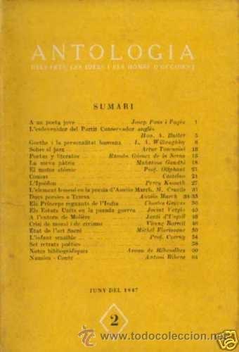 3 NUMEROS DE ANTOLOGIA FETS,IDEES I HOMES OCCIDENT.Nº 2-3-5 1947.4ª 67-80-80 pgs segunda mano