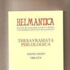 Coleccionismo de Revistas y Periódicos: HELMANTICA, Nº 133-135. ENERO- DICIEMBRE 1993. Lote 31801600