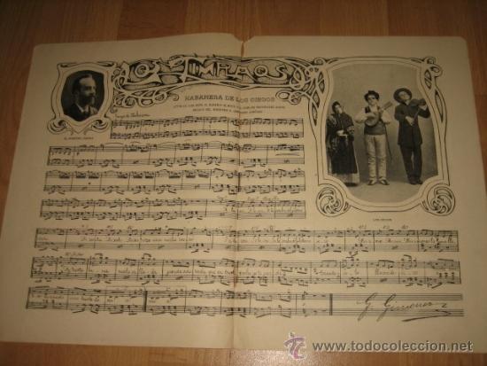 LOS TIMPLAOS PARTITURA HABANERA DE LOS CIEGOS 2 HOJAS DE REVISTA NUEVO MUNDO 1902 (Coleccionismo - Revistas y Periódicos Modernos (a partir de 1.940) - Otros)
