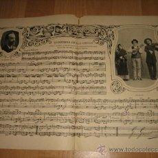 Coleccionismo de Revistas y Periódicos: LOS TIMPLAOS PARTITURA HABANERA DE LOS CIEGOS 2 HOJAS DE REVISTA NUEVO MUNDO 1902. Lote 31808737