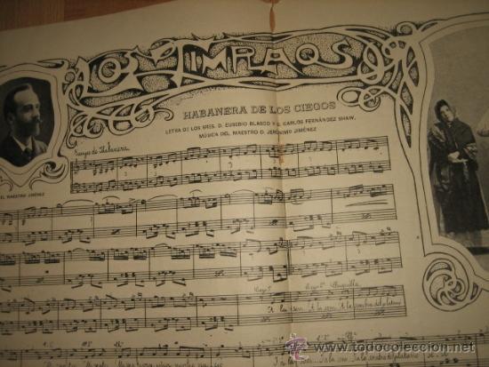 Coleccionismo de Revistas y Periódicos: LOS TIMPLAOS PARTITURA HABANERA DE LOS CIEGOS 2 HOJAS DE REVISTA NUEVO MUNDO 1902 - Foto 2 - 31808737