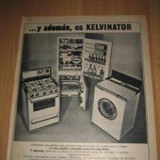 Coleccionismo de Revistas y Periódicos: PUBLICIDAD KELVINATOR HOJA DE REVISTA . Lote 31823178