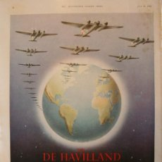 Coleccionismo de Revistas y Periódicos: PUBLICIDAD - DE HAVILLAND - AÑO 1943 - MEDIDAS 37 X 26 CM.APROX.. Lote 31924163