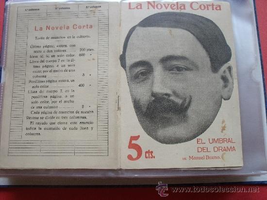 MANUEL BUENO.-EL UMBRAL DEL DRAMA.-LA NOVELA CORTA. (Coleccionismo - Revistas y Periódicos Antiguos (hasta 1.939))