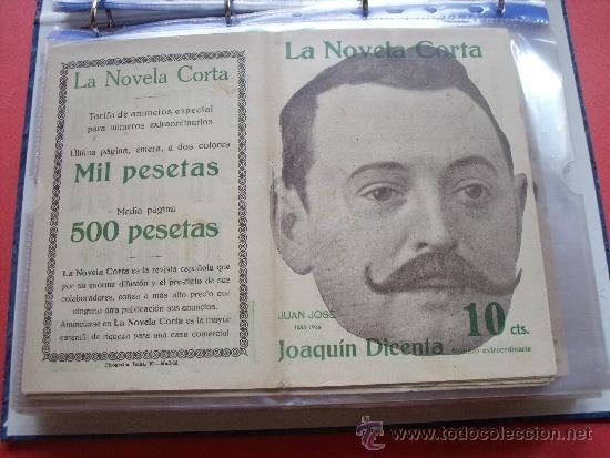 LA NOVELA CORTA .-JOAQUIN DICENTA.- JUAN JOSÉ (Coleccionismo - Revistas y Periódicos Antiguos (hasta 1.939))