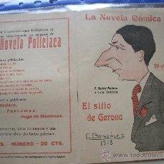 Coleccionismo de Revistas y Periódicos: LA NOVELA COMICA .- F. GARCIA PACHECO Y LUIS CANDELA.- EL SITIO DE GERONA.. Lote 31923618