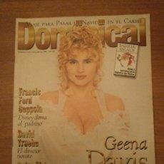 Coleccionismo de Revistas y Periódicos: REVISTA DOMINICAL, 8 DICIEMBRE 1996 -Nº 142- GEENA DAVIS EL ANGEL RUBIO. Lote 31941883