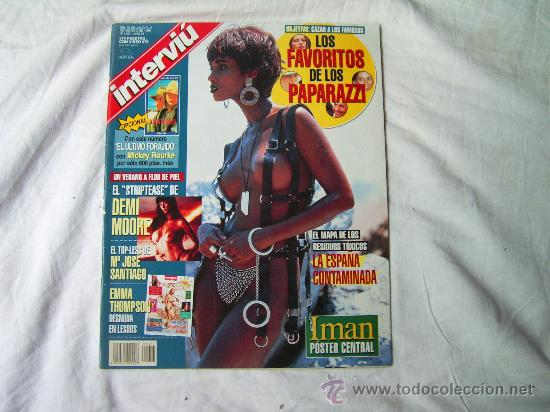 Interviu Nº 1057 Poster Central Iman Emma Tho Sold At Auction