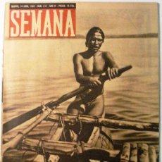 Coleccionismo de Revistas y Periódicos: SEMANA Nº 112 AÑO 1942. Lote 32135563