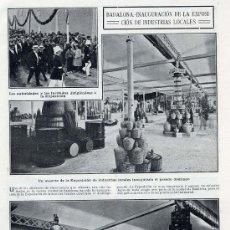 Coleccionismo de Revistas y Periódicos: BADALONA 1910 EXPOSICION INDUSTRIAS HOJA REVISTA. Lote 32271556