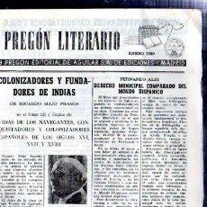 Coleccionismo de Revistas y Periódicos: EDICIÓN A, PREGÓN LITERARIO, AGUILAR, MADRID, ENERO 1955, RAMON Y CAJAL. Lote 32302147