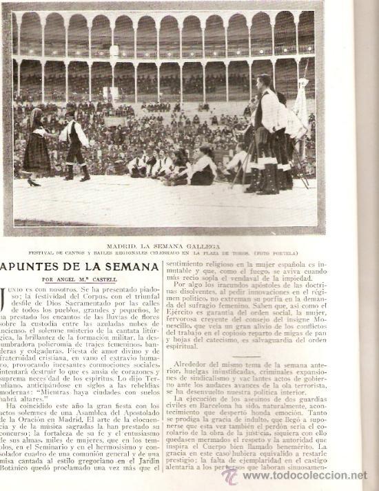 Coleccionismo de Revistas y Periódicos: REVISTA.AÑO 1920.FOTO AEREA CERRO DE LOS ANGELES.DANZAS GALLEGAS.ESCUELA BARTOLD OTTO.PEDAGOGIA. - Foto 2 - 32363817