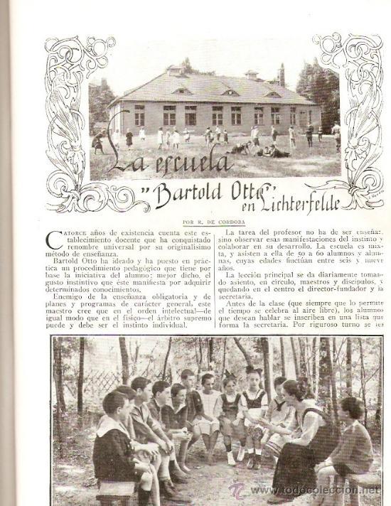 Coleccionismo de Revistas y Periódicos: REVISTA.AÑO 1920.FOTO AEREA CERRO DE LOS ANGELES.DANZAS GALLEGAS.ESCUELA BARTOLD OTTO.PEDAGOGIA. - Foto 3 - 32363817