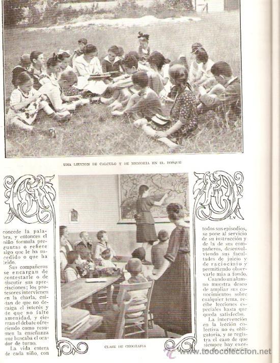 Coleccionismo de Revistas y Periódicos: REVISTA.AÑO 1920.FOTO AEREA CERRO DE LOS ANGELES.DANZAS GALLEGAS.ESCUELA BARTOLD OTTO.PEDAGOGIA. - Foto 4 - 32363817