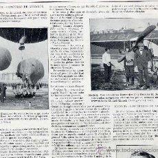 Coleccionismo de Revistas y Periódicos: MADRID 1913 AEROSTACION CONCURSO- AVIACION CIUDAD LINEAL HOJA REVISTA. Lote 32369979