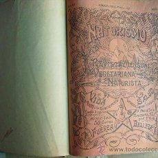 Coleccionismo de Revistas y Periódicos: 1923-24 24 REVISTAS NATURISMO ( VEGETARIANO-NATURISTAS) EN UN VOLUMEN UNICAS EN EL MUNDO. Lote 32385238