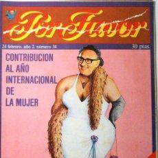 Coleccionismo de Revistas y Periódicos: POR FAVOR Nº 34. Lote 32397024