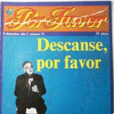 Coleccionismo de Revistas y Periódicos: POR FAVOR Nº 75. Lote 32397053