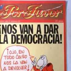 Coleccionismo de Revistas y Periódicos: POR FAVOR Nº 81. Lote 32397082