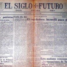 """Coleccionismo de Revistas y Periódicos: MADRID 11 DE ABRIL 1935.- """"EL SIGLO FUTURO"""" DE 6 PÁGINAS. MEDIDAS:44 X 59 CM.. Lote 32412646"""