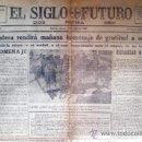 Coleccionismo de Revistas y Periódicos: MADRID 13 DE ABRIL 1935.- EL SIGLO FUTURO - DIOS, PATRIA Y REY- DE 4 PÁGINAS. MEDIDAS:44 X 59 CM. Lote 32422766