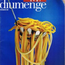 Coleccionismo de Revistas y Periódicos: PASTAMANIA - AVUI DIUMENGE - MAIG 2002 - MICHAEL NYMAN. Lote 32506930