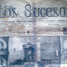 Coleccionismo de Revistas y Periódicos: MADRID 24 JUNIO 1883. -LOS SUCESOS- REVISTA SEMANAL ILUSTRADA.1 H. CON 2 PÁG.MODELO GRANDE 68 X 48. Lote 32441908