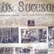 Coleccionismo de Revistas y Periódicos: MADRID 1 JULIO 1883. -LOS SUCESOS-. REVISTA SEMANAL ILUSTRADA.1 H. 2 PAG. MODELO GRANDE 68 X 48 CM. Lote 32441989