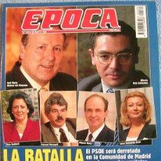 Coleccionismo de Revistas y Periódicos: EPOCA, MAYO 1995. JAVIER MARIAS. JUAN SAEZ. LOLA FLORES. A. DEL MANZANO. LEBED. GUIDO BRUNNER........ Lote 32449397