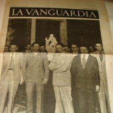 Coleccionismo de Revistas y Periódicos: PERIODICO LA VANGUARDIA 9 JUNIO 1937 GUERRA CIVIL 4 PAGINAS . Lote 32462449