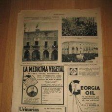 Coleccionismo de Revistas y Periódicos: MANIFESTACIONES DE ENTUSIASMO PROCLAMACION REPUBLICA MANRESA,ALBACHOJA DE REVISTA MUNDO GRAFICO 1931. Lote 32479899