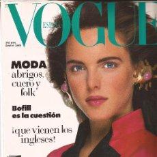 Coleccionismo de Revistas y Periódicos: REVISTA VOGUE ESPAÑA Nº 7, OCTUBRE 1988.. Lote 180498572