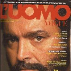 Coleccionismo de Revistas y Periódicos: REVISTA L´UOMO VOGUE ITALIA, Nº 236, ENERO 1993.. Lote 32486574