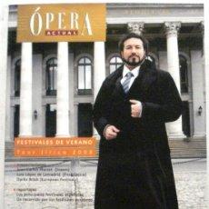 Coleccionismo de Revistas y Periódicos: OPERA ACTUAL REVISTA DE MUSICA. Lote 32493420