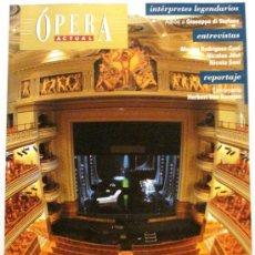 Coleccionismo de Revistas y Periódicos: OPERA ACTUAL REVISTA DE MUSICA Nº 109. Lote 32493436