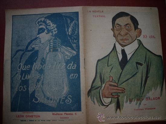 NOVELA TEATRAL.-LOTE DE LAS PRIMERAS 50 NOVELAS TEATRALES.-TEATRO. (Coleccionismo - Revistas y Periódicos Antiguos (hasta 1.939))