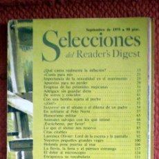 Coleccionismo de Revistas y Periódicos: SELECCIONES DEL READER´S DIGEST;SEPTIEMBRE 1979. Lote 32525811
