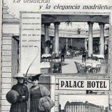 Coleccionismo de Revistas y Periódicos: PALACE HOTEL 1917 MADRID HOJA REVISTA. Lote 32529191
