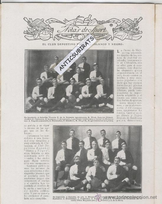 Coleccionismo de Revistas y Periódicos: REVISTA 1910 DUQUE DE NAJERA.AVIACION AVION.SANTOS DUMONT EN MADRID LAGARTIJO RCD ESPAÑOL FUTBOL - Foto 3 - 29944311